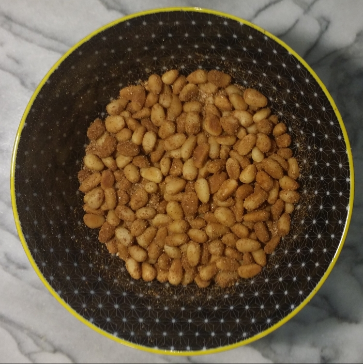 Spiced pine nuts, Pynnonade exp. 1